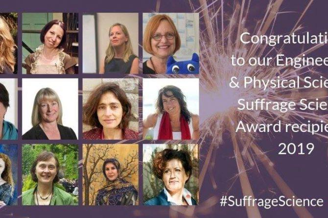 Suffrage Science 2019 award recipients