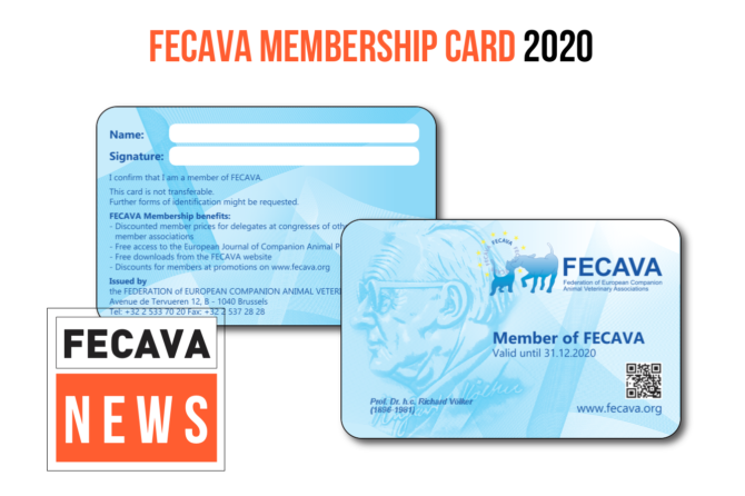 FECAVA Membership Card 2020 honors Dr. Richard Völker