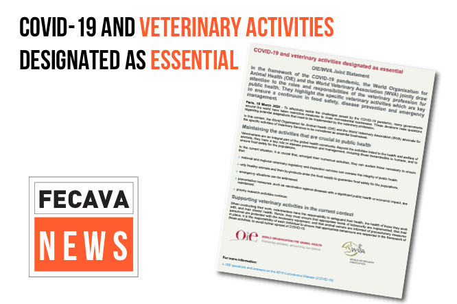 COVID-19 and Veterinary Activities designated as Essential