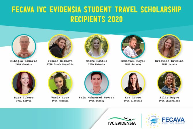 FECAVA IVC Evidensia Student Travel Scholarship recipients 2020