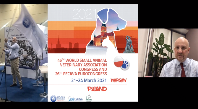 Dr. Jerzy Gawor opens the Opening Ceremony at WSAVA/FECAVA Congress 2021