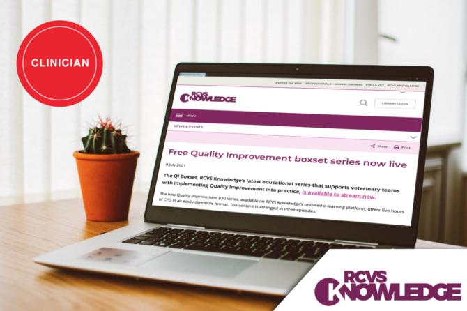 RCVS Knowledge Free Quality Improvement boxset series is now live
